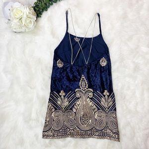 Free People Dresses - Free People x Lenni | Malu Velvet Mini Dress